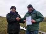 Steve Vincent passes his Slope Soaring 'A' Certificate (5th January, Examiner Jonathan Smith)