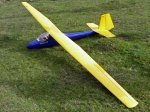 Terry Maynard's 5 metre Slingsby Skylark 3B prior to a successful maiden flight