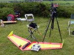 Andy Davey's flying wing with FPV kit.