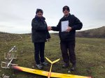 Bob Flook passes his Slope Soaring 'A' Certificate (5th January, Examiner Jonathan Smith)