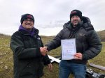 Dave McLean passes his Slope Soaring 'A' Certificate (5th January, Examiner Jonathan Smith)