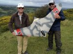 Steve Vincent and Keith Rayner show off Keith's scratch built Horton HO229