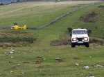 Air ambulance and Cheddar File Services Land Rover