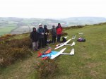 Five stalwarts up 'The Peak' on an early May day