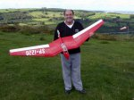 Keith with his Red Devil flying wing
